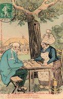 CPA FANTAISIE ILLUSTRATEUR GALRY CES BONS NORMANDS La Partie De Dominos. - Illustrateurs & Photographes
