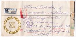 M456 Singapore Lettre Recommandée Registered Letter FDC 1974 UNICEF Children's Day CUSTOM CONTROL - Singapour (1959-...)