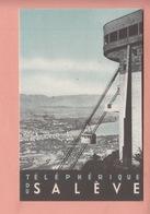 OLD POSTCARD -   ADVERTISING - SWITZERLAND - TELEPHERIQUE DU SALEVE - Pubblicitari