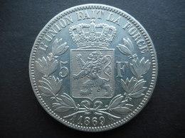 Belgium 5 Francs 1869 Leopold II - 09. 5 Frank