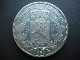 Belgium 5 Francs 1869 Leopold II - 1865-1909: Leopold II