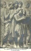 """2875 """" FIRENZE-MUSEO DI S. MARIA DEL FIORE-BASSORILIEVO DI LUCA DELLA ROBBIA """" CARTOLINA POSTALE ORIG. SPEDITA - Sculture"""
