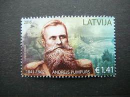 A. Pumpurs # Latvia Lettland Lettonie # 2016 MNH # Mi. 992 - Lettonie