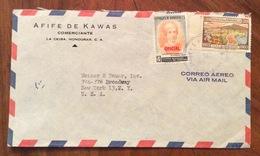 POSTA AEREA PAR AVION  HONDURAS  U.S.A.   FROM  LA CEIBA   TO NEW YORK  THE  9/8/62 - Honduras