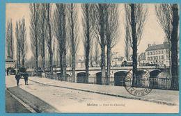 MELUN - Pont Du Châtelet (animation)- Attelage Cheval - Carte Circulé 1923 - Melun