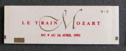 FRANCE - 1991 - 2614 - C11 - TRAIN MOZART - Booklets