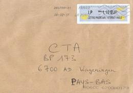France 2017 Avions En Papier Post Office IP Meter Franking Cover - 2000 «Avions En Papier»