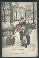 Bruxelles. Petits Métiers. Les Marchandes De Fleurs. Nels Série 17, N°49. Précurseur. 2 Scans - Artesanos