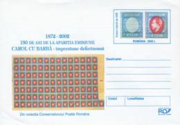 ROUMANIE - 2002 - Entier Postal Neuf - 130 Ans De L'émission Carol Cu Barba - Entiers Postaux