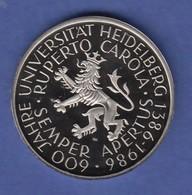 Bundesrepublik 5DM Gedenkmünze 1986 Universität Heidelberg PP - 5 Mark