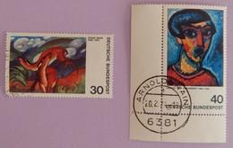 """RFA YT 647/648 TRES BEAU CAD """"EXPRESSIONNISME """" ANNEE 1974 - Oblitérés"""