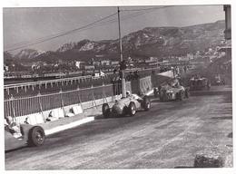 TRES BELLE GRANDE PHOTO 18X12 / PARC BORELY /  GRAND PRIX DE MARSEILLE 1949 / PILOTES NOMMES - Automobiles