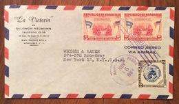 POSTA AEREA PAR AVION  HONDURAS  U.S.A.   FROM SAN PEDRO SULA  TO NEW YORK   THE  15/11/64 - Honduras