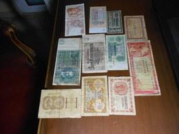 FRANCE   GERMANY   GREECE   RUSSIA    11  BILLETS  LOT - 1871-1952 Frühe Francs Des 20. Jh.