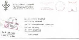 JEUX OLYMPIQUES - OLYMPICS GAMES COMITE OLYMPIQUE POLGNE 6 POLSKI KOMITET OLIMPIJSKI WARSZAWA - Jeux Olympiques
