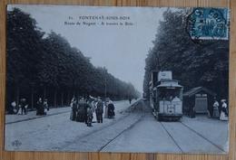 94 : Fontenay-sous-Bois - Route De Nogent - À Travers Le Bois - Animée - Tramway - (n°14576) - Fontenay Sous Bois