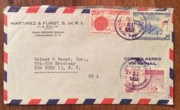 POSTA AEREA  PAR AVION  HONDURAS  U.S.A  FROM SAN PEDRO SULA   TO NEW YORK   THE  31/10/63 - Honduras