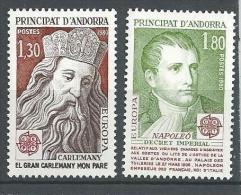 "Andorre YT 284 & 285 "" Europa "" 1980 Neuf** - French Andorra"