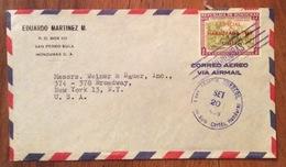 POSTA AEREA  PAR AVION  HONDURAS  U.S.A  FROM SAN PEDRO SULA   TO NEW YORK   THE  20/9/58 - Honduras