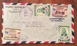 POSTA AEREA  PAR AVION  HONDURAS  U.S.A  FROM SAN PEDRO SULA   TO NEW YORK   THE  21/1/61 - Honduras