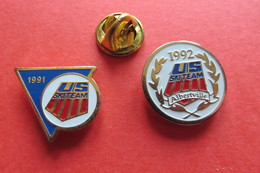 2 Pin's,Sport,Ski,US SKI-TEAM, 1991,1992 Albertville - Wintersport
