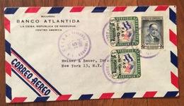 POSTA AEREA  PAR AVION  HONDURAS  U.S.A  FROM LA CEIBA   TO NEW YORK   THE   15/7/64 - Honduras