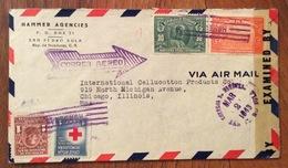 POSTA AEREA  PAR AVION  HONDURAS  U.S.A  FROM SAN PEDRO SULA   TO  CHIOCAGO  THE   2/3/1943 - Honduras