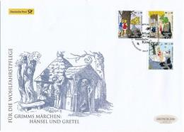 GERMANY Mi. Nr. 3056-3058 Wohlfahrt: Grimms Märchen -Hänsel Und Gretel - FDC - FDC: Sobres