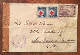 POSTA AEREA  PAR AVION  HONDURAS  U.S.A  FROM TEGUGIGALPA   TO SAN FRANCISCO   THE   8/12/1943 CENSURATA - Honduras