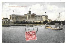 CPA.  JAMAIQUE  ..COLONIAL  HOTEL...KINGSTONE..  1916. - Jamaïque