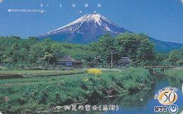 Télécarte Japon / NTT 250-090 - MONT FUJI TBE - Mountain Japan Phonecard - Berg Telefonkarte - Paysages