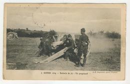 Militaria Guerre 1914         Batterie De 75  -  Tir Progressif - Guerre 1914-18