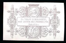 GENT PORSELEINKAART 9 X 6 CM - C.VAN DERGHT , RUE LONGUE DES PIERRES 23 GAND - Melle