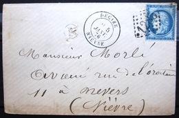 CACHET Type 18 Sur Cérès + GC 1285 + B.R -  DECIZE - NIEVRE - LSC - 1876 - 1849-1876: Période Classique