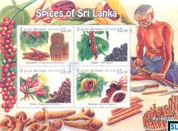 Sri Lanka Stamps 2019, Spices, MS - Sri Lanka (Ceylon) (1948-...)
