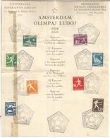 HOLANDA DOCUMENTO CON SELLOS Y MATASELLOS JUEGOS OLIMPICOS DE AMSTERDAM 1928 - Summer 1928: Amsterdam