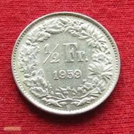Switzerland 1/2 Franc 1959 KM# 23 Silver Suiça Suisse Svizzera Schweiz Suiza - Switzerland