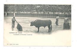 Madrid-Corrida De Toros-Algabeno Entrando A Matar-(C.9638) - Madrid
