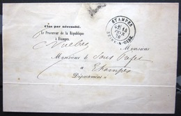 CACHET Type 18 -  ETAMPES - SEINE-&-OISE - LSC - 1878 - Poststempel (Briefe)