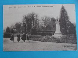 17 :MARENNES ; Le JARDIN PUBLICBUSTE De Mr.LETERME , Animée, C.P.A.,carte En Bon état - Marennes