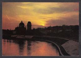 91652/ LUMIERE, Coucher De Soleil, Verona, San Giorgio, Tramonto Sull'Adige - Contre La Lumière