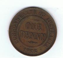 AUSTRALIA»1 PENNY»1922»BRONZE»KM23»VG CONDITION»CIRCULATED - Pre-decimale Munt (1910-1965)