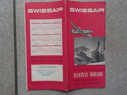 1950 - 1951  Flugplan Swissair Suisse Time Table Horaire Aviation - Horaires