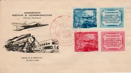 Romania - Aeroplane/Transport / FDC 1949 - Airplanes
