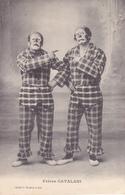 """CPA Clown """"les Frères CATALANI"""" Auguste Cirque Cirk Circus (2 Scans) - Circus"""