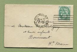 MULHOUSE 1 - MACHINE ALLEMANDE Type :7 LIGNES DROITES  (1925) - Marcophilie (Lettres)