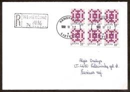 LITHUANIA / LITAUEN 1998.10.12 R-Brief / R-Letter 6xMi670 - Lithuania