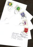 LITHUANIA / LITAUEN 2003 Wappen Vollst Satz Auf 5x Umschlägen / Coat Of Arms Compl Set On 5x Letters - Lithuania