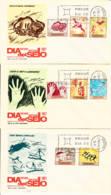 ESPAGNE - 1967 - Lot De 3 FDC - Préhistoire - Peintures Rupestres - FDC