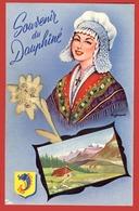 ** CARTE  SOUVENIR  Du  DAUPHINE  +  16  CARTES  HAUTE - SAVOIE ** - Cartoline
